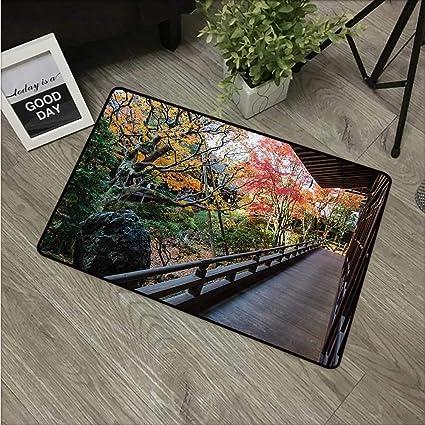 Amazoncom Hroomdecor Japanesecarpets Doormat Forest Landscape