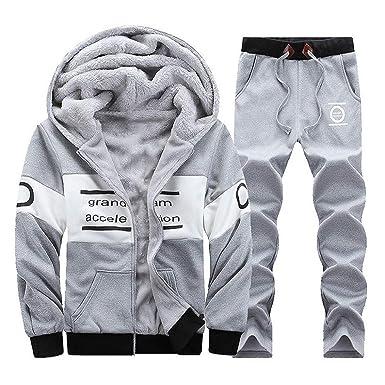 heiß seeling original Neupreis schnelle Farbe FIRSS Männer Patchwork Trainingsanzug Winter Warm Mit Kapuze ...