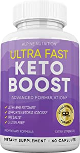 Ultra Fast Keto Boost Pills - Keto BHB Diet Pills for Women and Men – Keto Supplement BHB Salts for Ketogenic Diet – Ketosis Exogenous Ketones – 60 Capsules for 30 Day Supply
