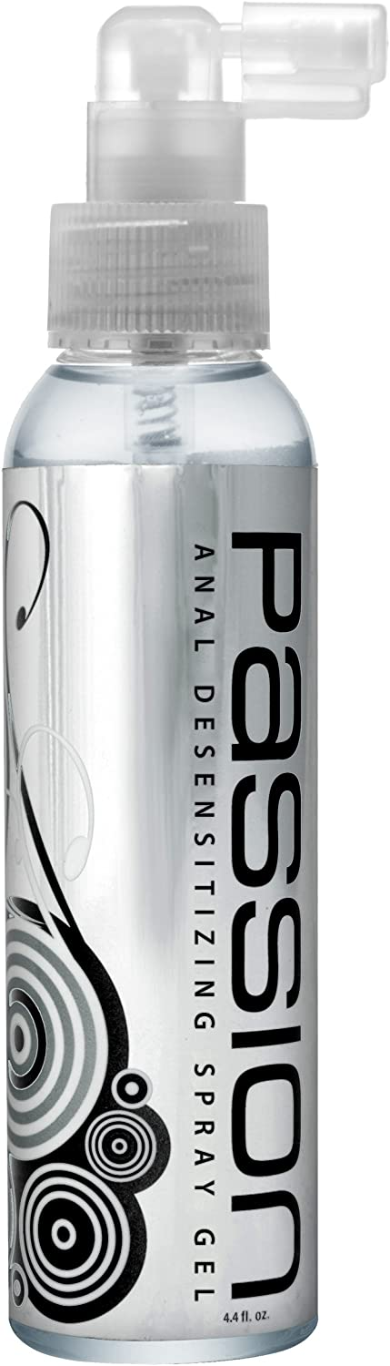 Passion Lubes Extra Strength Anal Desensitizing Spray Gel, 4.4 Fluid Ounce