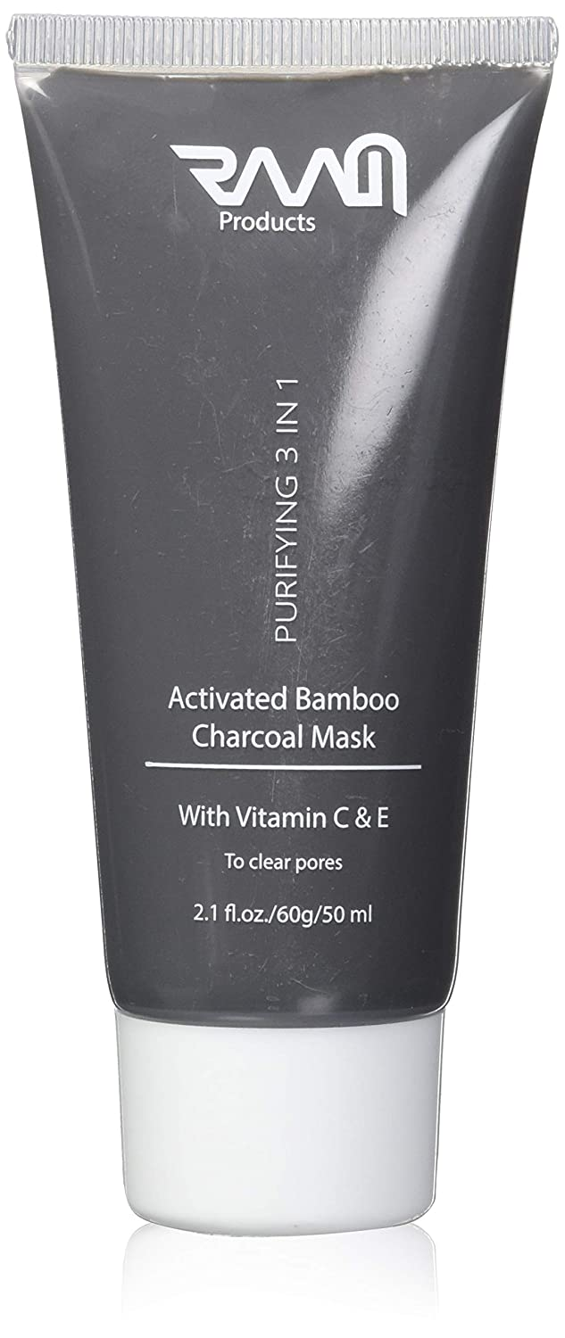 Activated Bamboo Charcoal Mask - Vitamin C & E | Pimples & Blackhead Remover - by RAAM