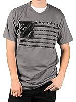 MO7 Men's Flag Print Novelty Pocket T-Shirt