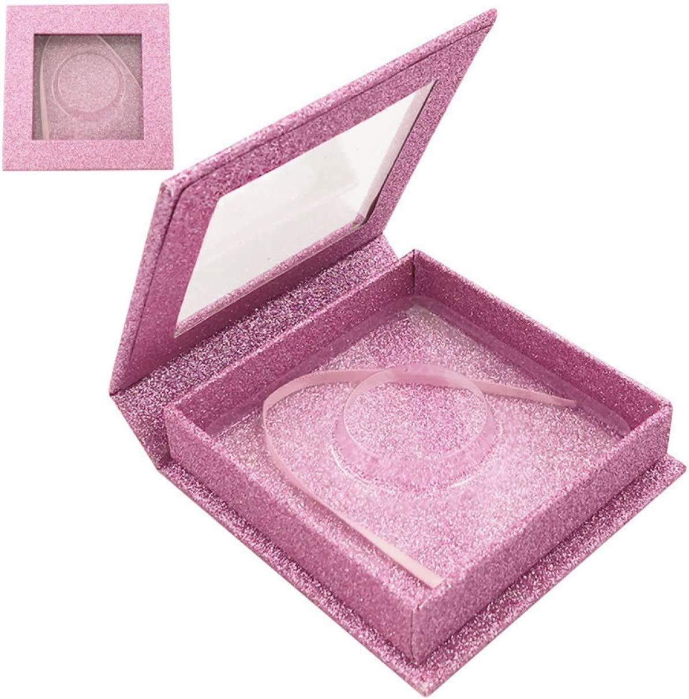 Gerald Madge Preferred Glitter Square Empty Storage Case Box Container Holder Eyelashes Case Elegant None BK