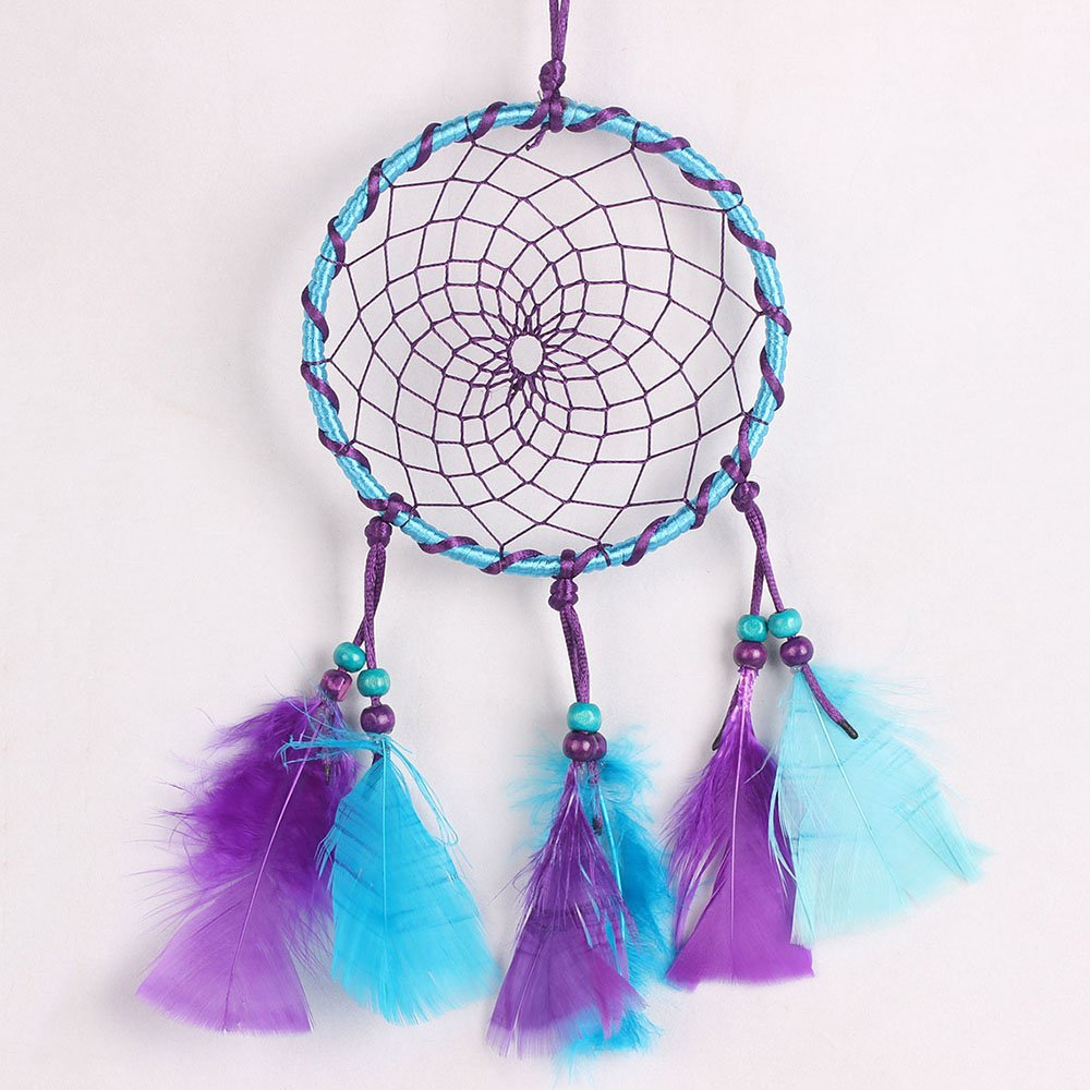Purple Dream Catcher with Feathers