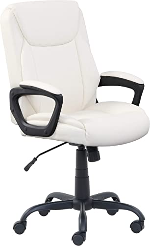 Amazon Basics Classic Puresoft PU-Padded Mid-Back Office Computer Desk Chair