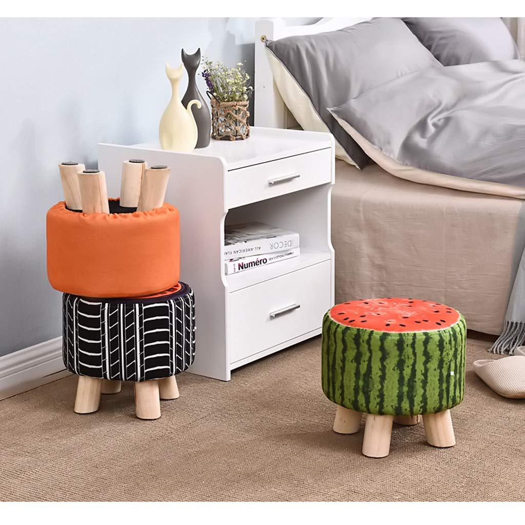 Solid Wood Stool - Four Legs Pine Sturdy and Durable Cloth Cover Can Be Washed and Wash Creative Children Adult Fruit Stool Sofa Bench 292928CM MENA UK by Benchor (Image #5)