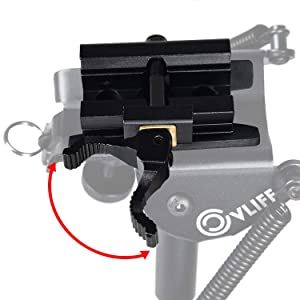 CVLIFE 6-9 Inches Rifle Bipod Quick Release Adapter Included for Hunting and Shooting (Color: Black, Tamaño: 6-9 inches)