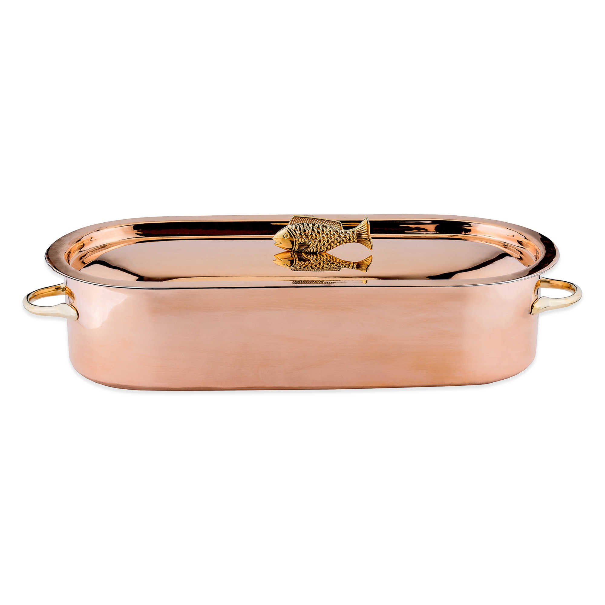 Solid Copper Construction With Stainless Steel Rack Fish Poacher