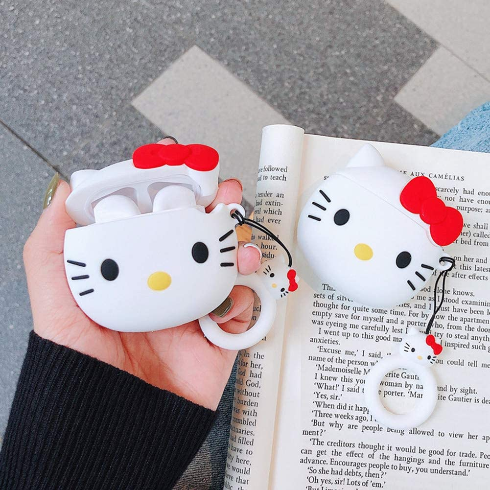 Soft Silicone Cute Animal Fun Cartoon Character Airpod Cover,Kawaii Funny Fashion Cool Keychain Design Skin,Shockproof Cases for Teens Girls Boys Air pods Leosimp for Airpods 1/&2 Case 3D One Eye