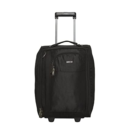 5e8658a0355c BagsRUs Polyester 21 cms Black Softsided Cabin Luggage (CA111FBL)   Amazon.in  Bags