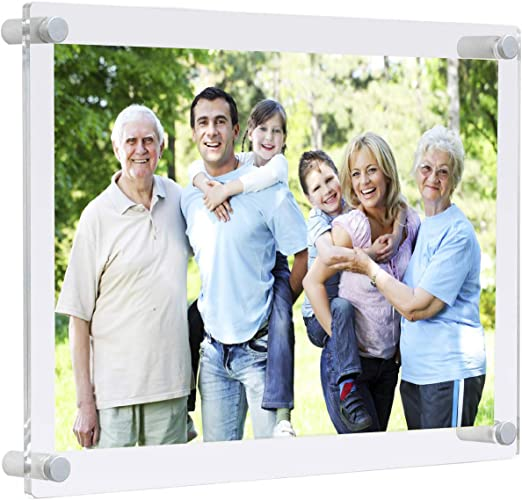 Frameless Record display case frame shadow box UV protecting A