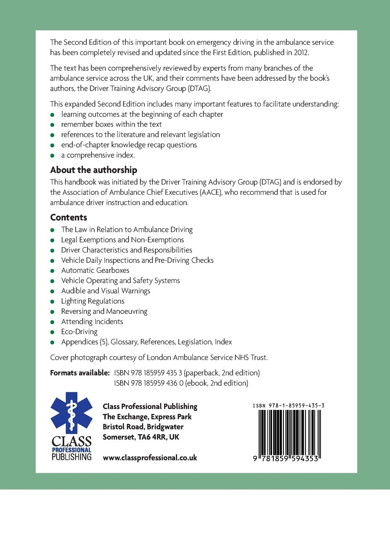 uk ambulance services emergency response driver s handbook amazon uk ambulance services emergency response driver s handbook amazon co uk dtag driver training advisory group 9781859594353 books