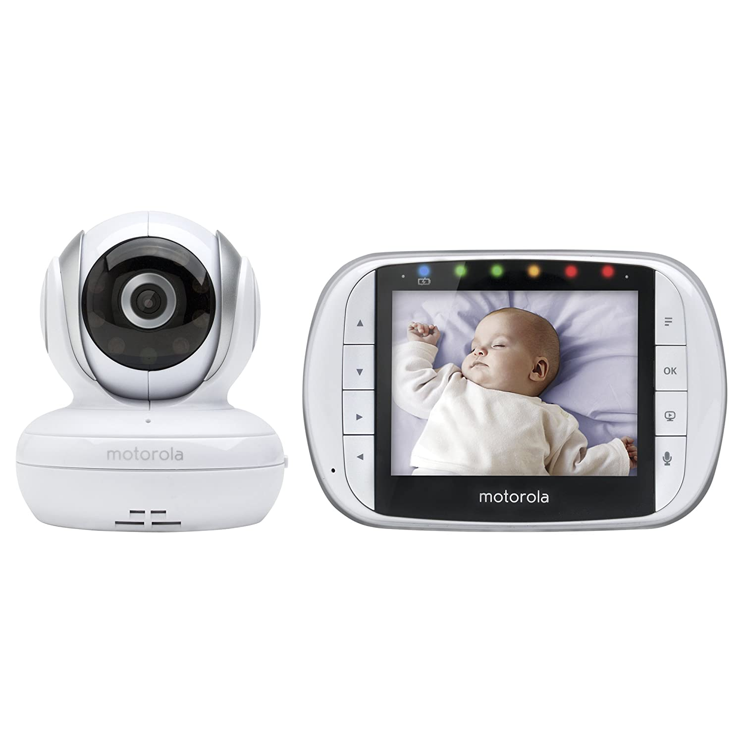Motorola MBP33XL 3.5 Video Baby Monitor with Digital Zoom, Two-Way Audio and Room Temperature Display