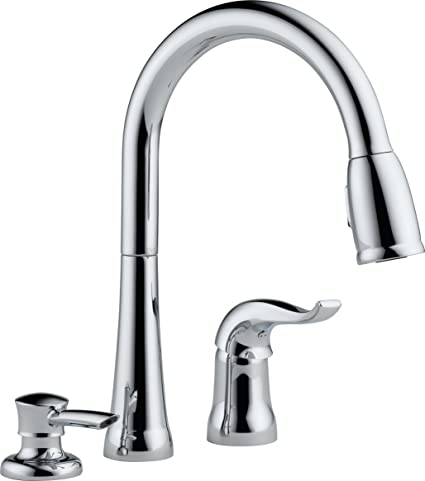 Delta 16970-SD-DST Kate Single-Handle Pull-Down Kitchen Faucet with ...