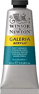 Winsor & Newton Galeria Acrylic Paint, 60-ml Tube, Deep Turquoise, 2 Fl Oz