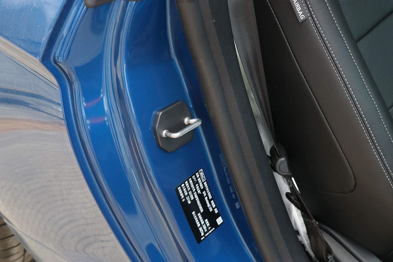 para Mustang F150 2015 2016 2017 2018 ABS Cerradura de la Puerta Gancho Cubierta Gap Restricci/ón Resistencia Proteger Recortar Cubierta Negro