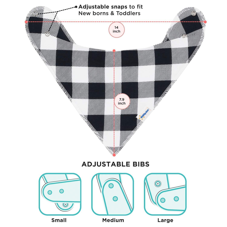 Amazon.com: Bandana baberos para niños y niñas por kiddystar ...