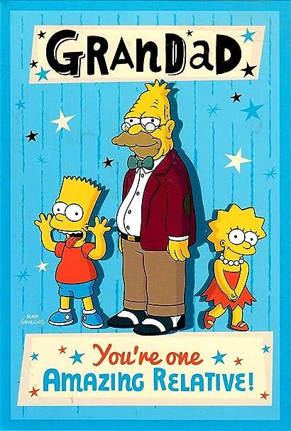 Amazon The Simpsons Amazing Grandad Birthday Card Kitchen