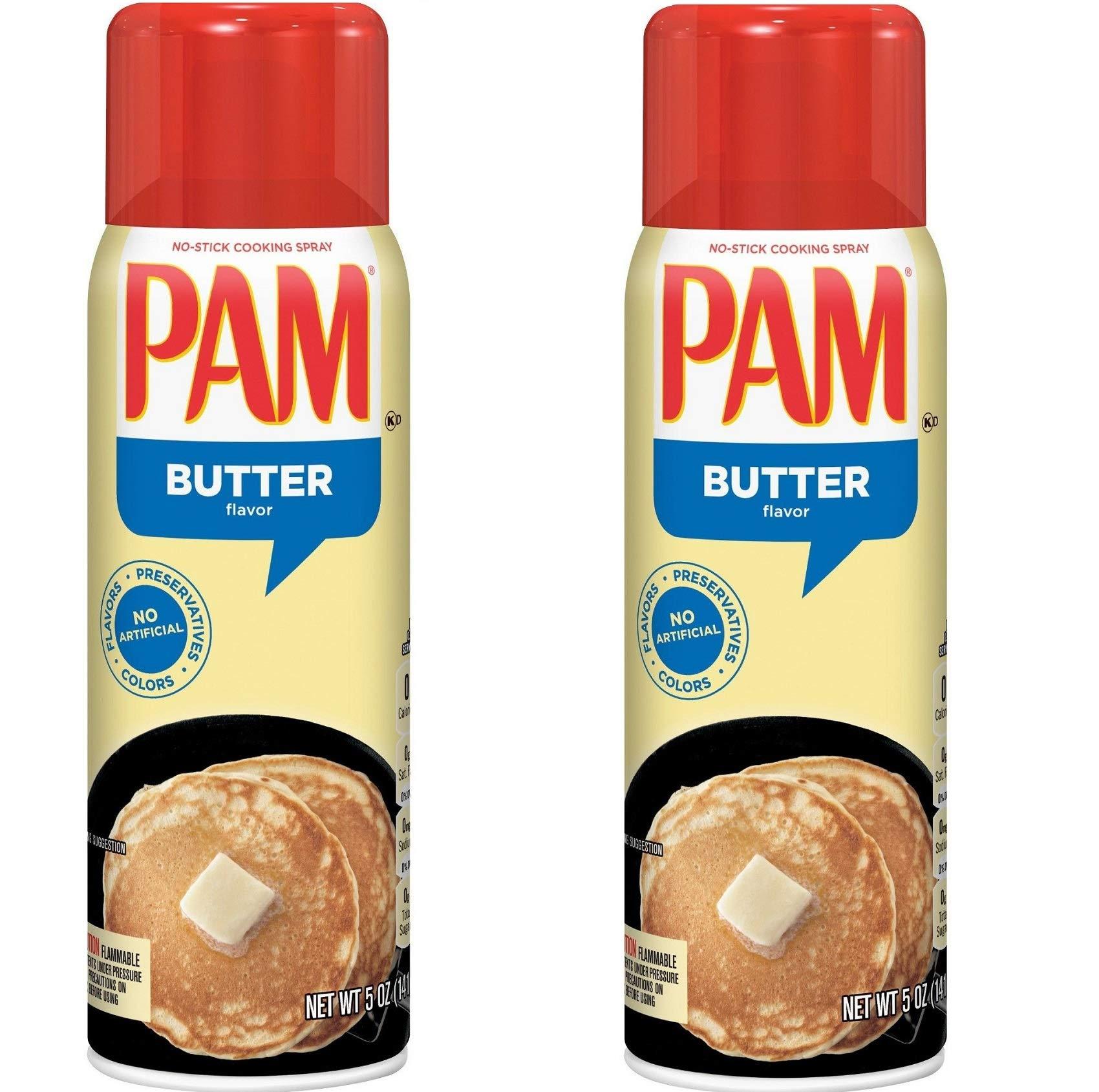 Pam Butter Flavor Cooking Spray - 5 oz - 2 pk