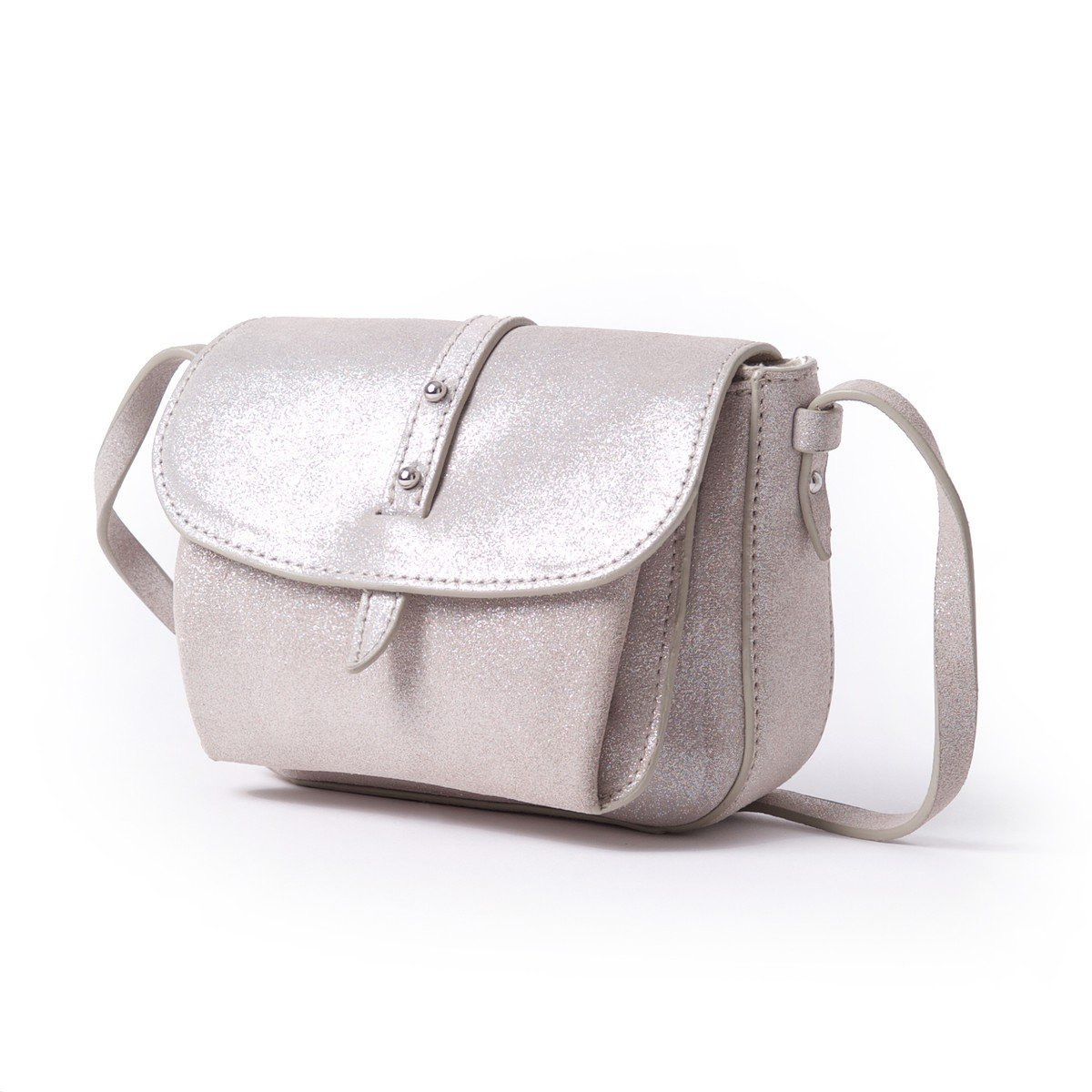 Esprit Womens Leather Handbag With Shoulder Strap Grey Size One Size by La Redoute