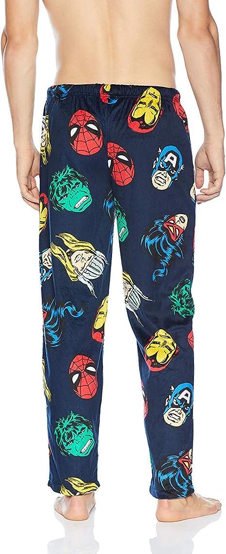 Marvel Men/'s Spiderman Portrait Grid Print Sleep Lounge Pajama Pants