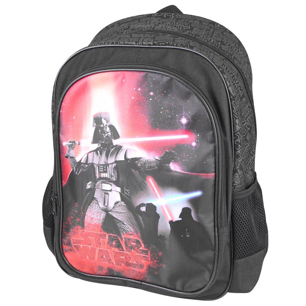 Mochila para niño Star Wars - Bolso Escolar con Bolsillo Frontal con Estampado de Darth Vader - Bolsa para la Escuela y la guarderia La Guerra de Las ...
