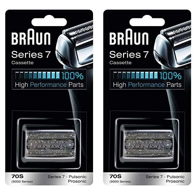 BRAUN 70S 9000 Series 7 Pulsonic Prosonic Shaver Foil &amp; Cutter Head Replacement Cassette Cartridge, 2 Pack <span at amazon
