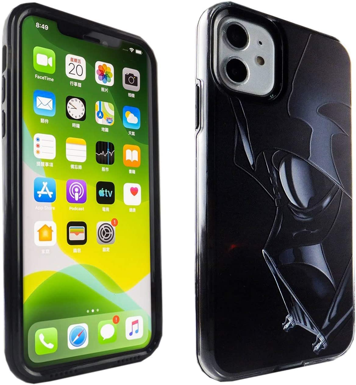 iPhone 11 Case, IMAGITOUCH TPU + PC 2 in 1 Armor Case with Flexible Shock Absorption Case & Darth Vader Design Cover Hybrid for iPhone 11 - Darth Vader Star Wars
