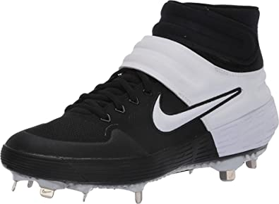 Tagliato fuori Ministro O più tardi  Amazon.com | Nike New Mens Alpha Huarache Elite 2 Mid Metal Baseball Cleats  nkCI2227 001 (12 D US) Black/White | Baseball & Softball
