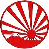 旭日旗 ステッカー 丸型 赤 日章旗 国旗