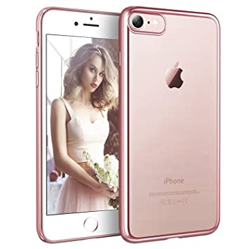 coque iphone 7 gold rose