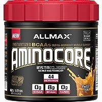 ALLMAX Nutrition - AMINOCORE BCAA - 8G BCAAs - 100% Pure Branch Chained Amino Acids - Gluten Free -Sweet Tea - 462 Gram