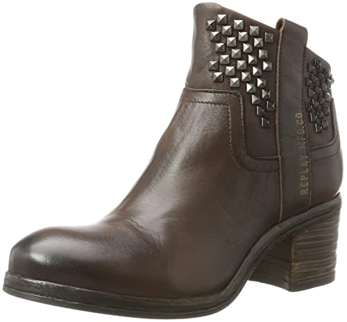 Replay Wise, Botas Estilo Motero para Mujer, Marrón (Tan), 37 EU