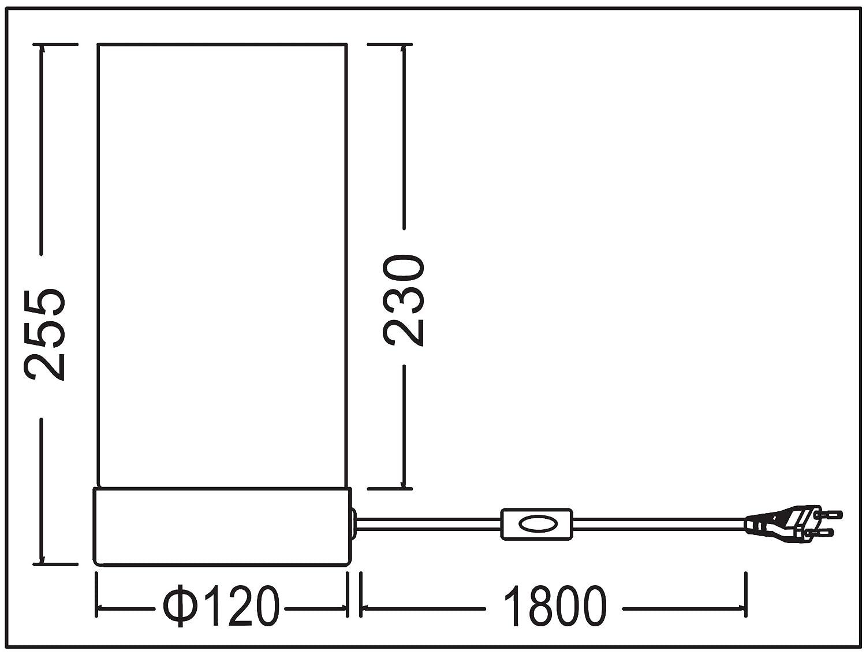 Adaptador de corriente de 220 V a MINI DIN Kalea Informatique versi/ón I de 2,5 A, GND abajo, 12 V a la izquierda, 5 V a la derecha