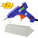 Philonext Hot Melt Glue Gun with 50 Pcs 190mm Glue Sticks, Melting Glue Gun Kit Flexible Trigger for DIY Small Craft Projects & Sealing and Quick Repairs