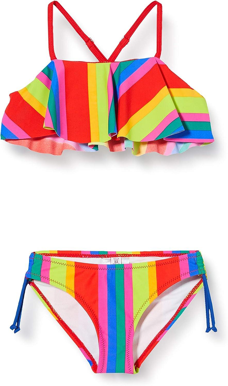 TUC TUC Bikini Righe Bambina Rosso Eco