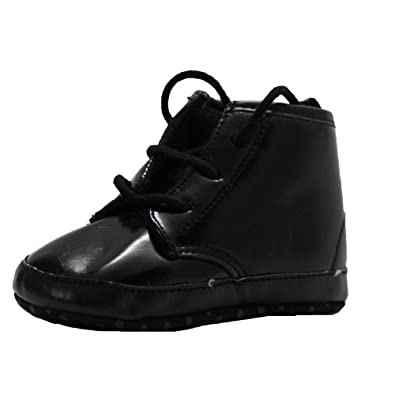 Abdc Kids Baby Boys Black First Walking Shoes