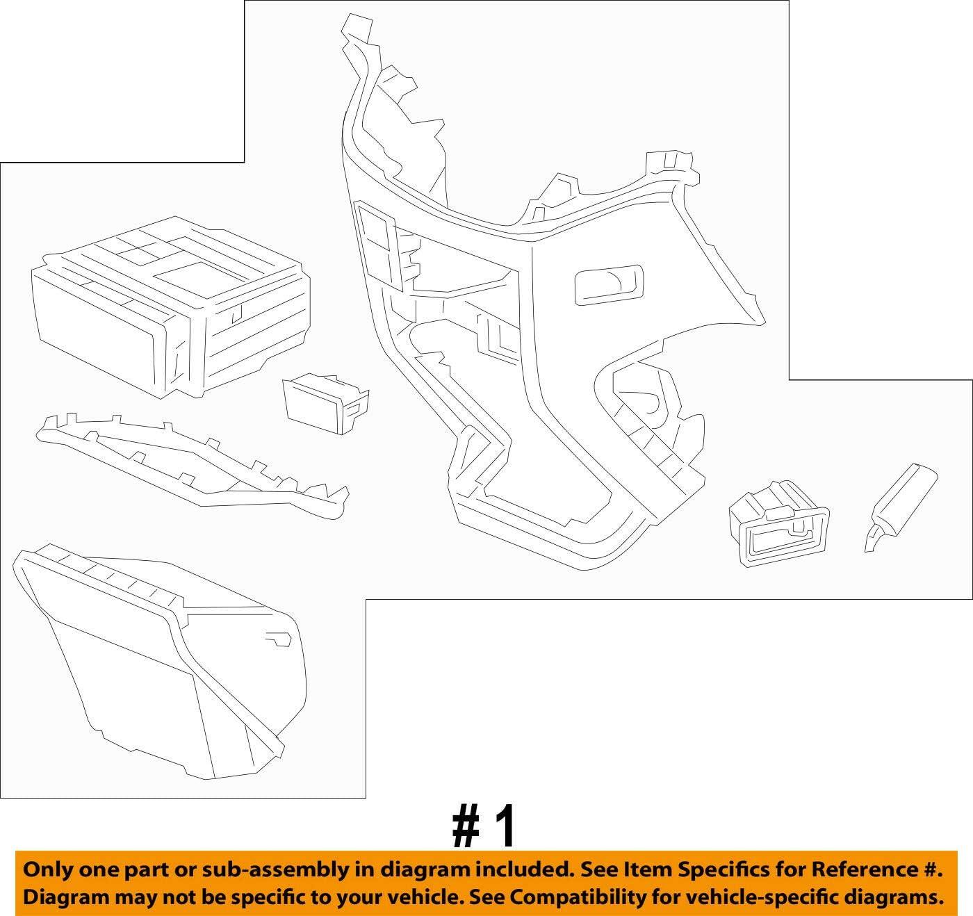 Honda Genuine 77299-TK8-A61ZC Center Console Assembly