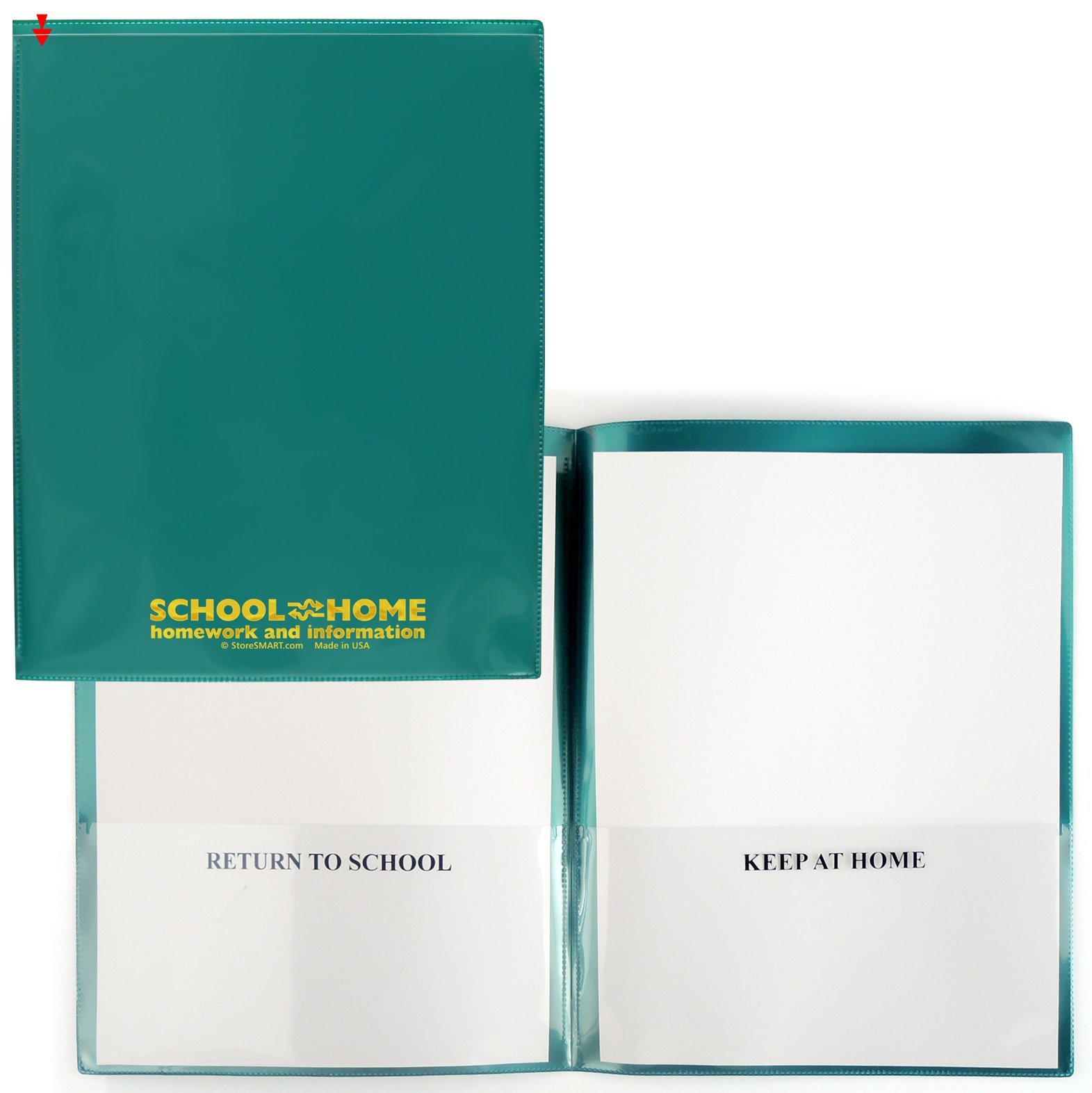 StoreSMART - School / Home Folders - Metallic Green - 30-Pack - Archival Durable Plastic - Homework and Information - SH900SV-MG30