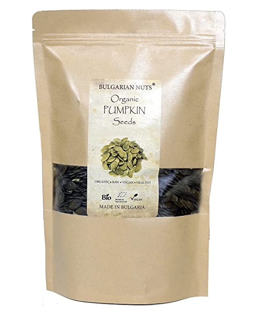 1 kg Semillas de calabaza cruda orgánicas directamente de la granja certificada BIO de calabaza en Bulgaria