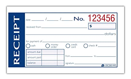 amazon com adams write n stick money rent receipt book 2 part 2