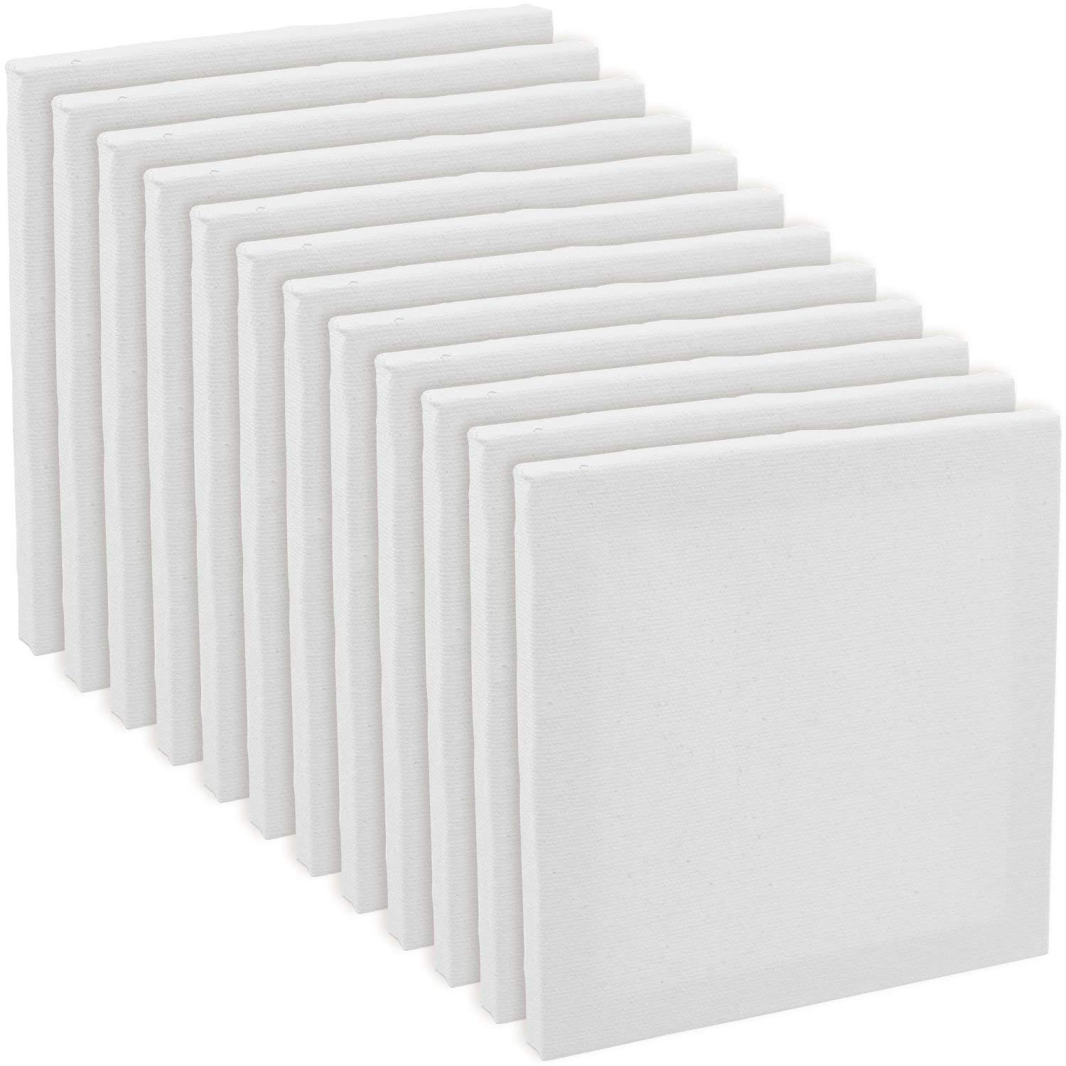 """US Art Supply 3/"""" x 4/"""" Mini Professional Primed Stretched Canvas 12-Mini Canvases"""