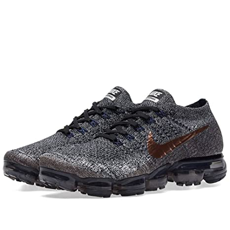 new style 18ea8 e1a1a Buy Men s Nike Air Vapormax Flyknit Black Metallic Red Bronze   X-Plore  Pack 849558 010 Size 11.5 Online at Low Prices in India - Amazon.in