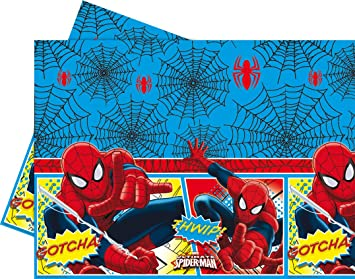 COOLMP - Juego de 3 manteles de plástico Spiderman - Talla ...