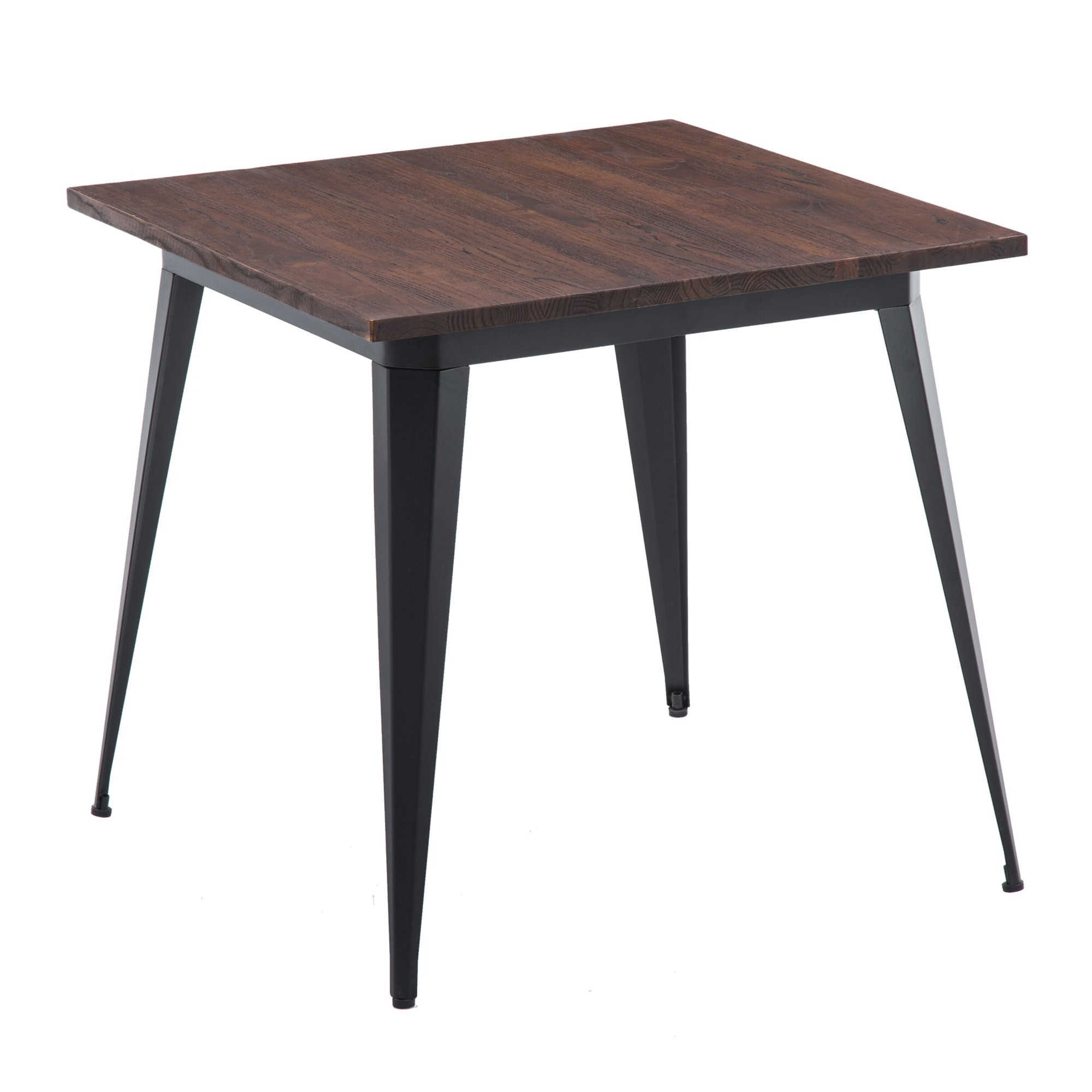 LSSBOUGHT Wood and Metal Square Dining Table, 31.5'' W×31.5'' L