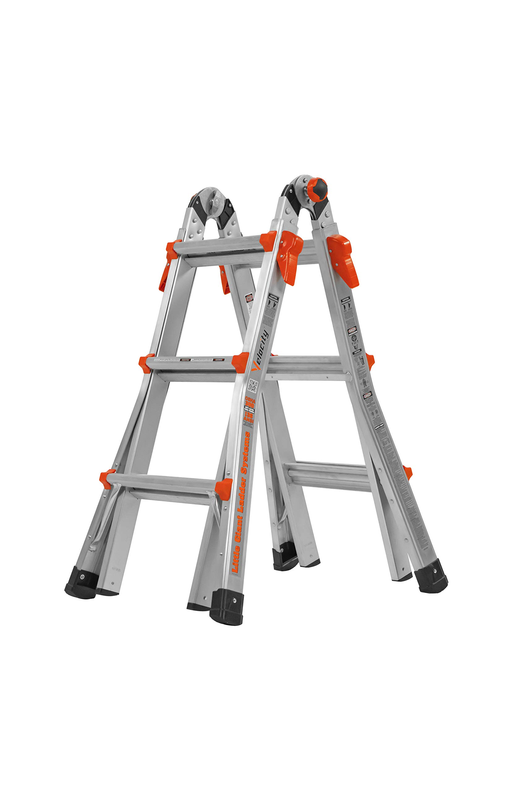 Little Giant 13-Foot Velocity Multi-Use Ladder, 300-Pound Duty Rating, 15413-001 by Little Giant Ladder Systems