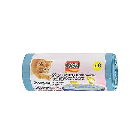 Riga 8 Bolsas plásticas con asa para para Arena de Gato ...