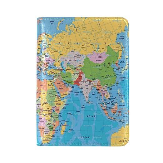 World Map Passport Holder.Amazon Com Yixkc Passport Holder World Map Passport Cover Case