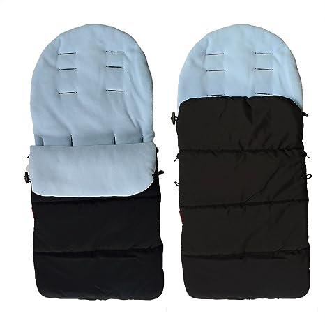 Conveniente para el footmuff caliente del invierno carro de bebé bebé niño dormir saco cómodo footmuff (azul)