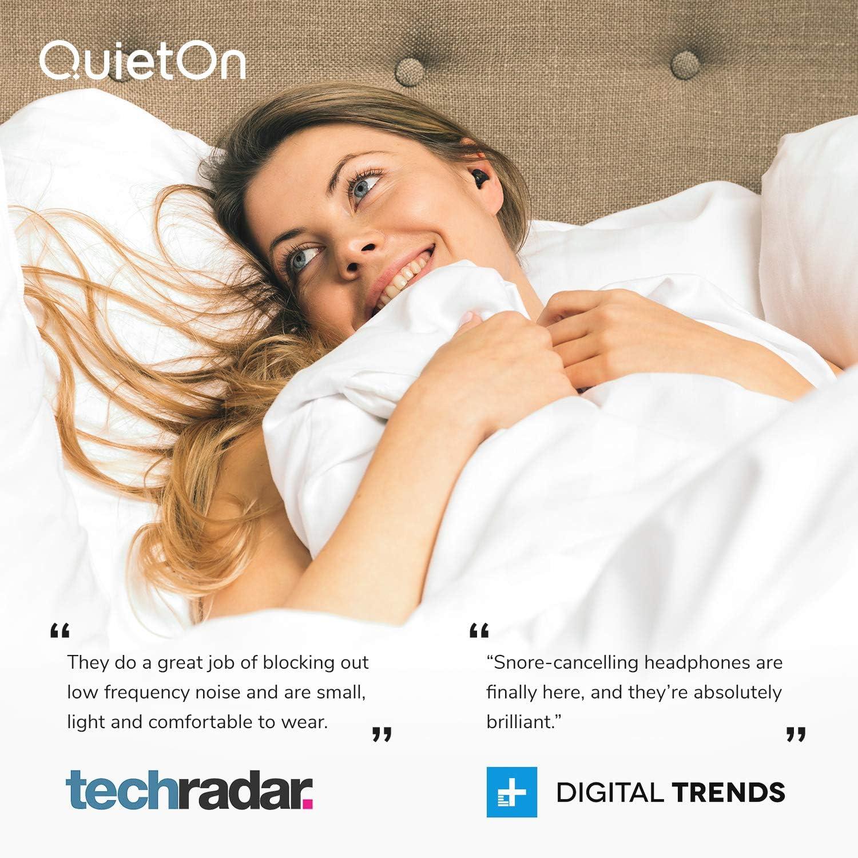 riduce il rumore adatto per viaggiatori QuietOn piccoli tappi per le orecchie con sistema di cancellazione del rumore per dormire durata della batteria 20 ore Tappi per orecchie con sistema di controllo del prezzo attivo